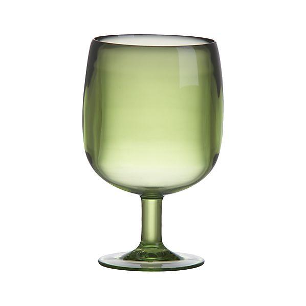 Stacking Green Acrylic Wine Glass