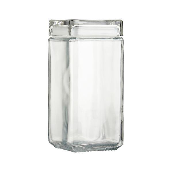 Large Stackable Glass Storage Jar