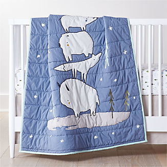 Stacked Animals Baby Bedding