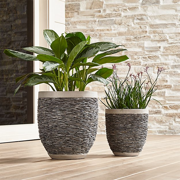 Stacked Rock Planters Crate And Barrel