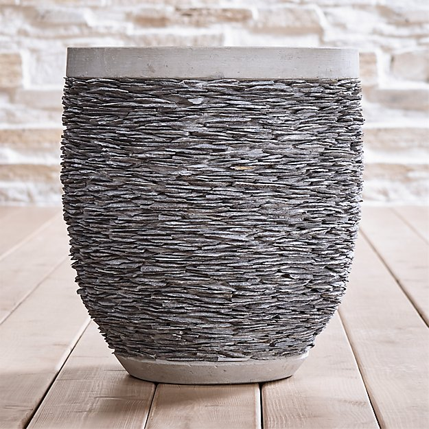 Stacked Large Rock Planter - Image 1 of 7