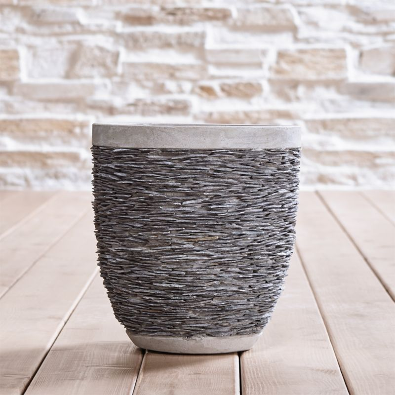 Stacked Small Rock Planter Reviews Crate And Barrel