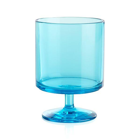Stacking Acrylic Blue Wine Glass