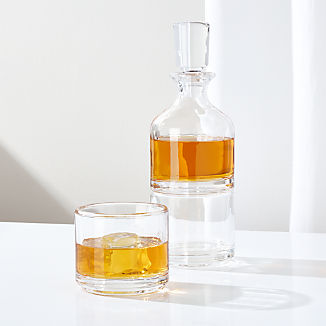 Stacking Decanter and Double Old-Fashioned Set