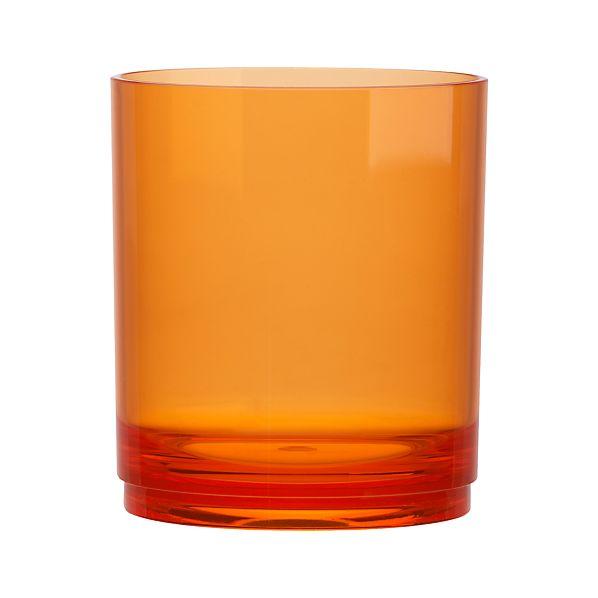 Stacking Acrylic Orange Double Old-Fashioned Glass