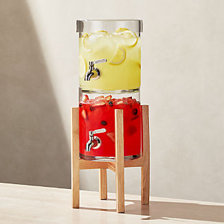 Stacking Drink Dispenser with Merge Stand