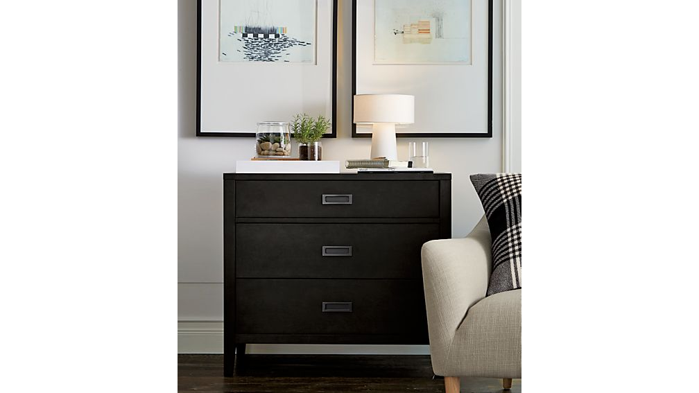 Arch Charcoal 3-Drawer Chest