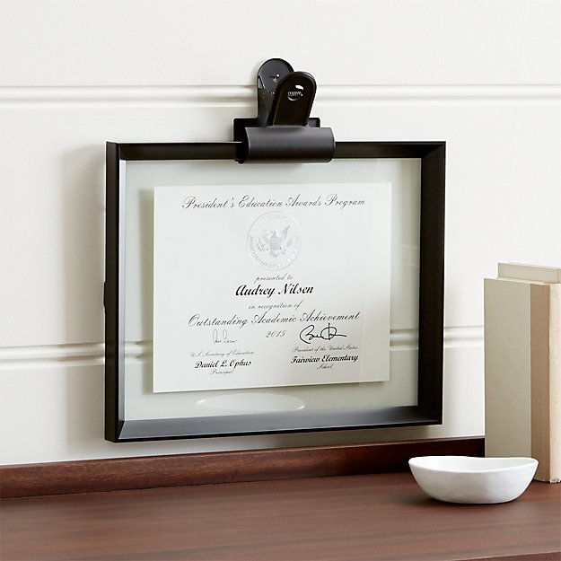 Stage 11x14 Document Frame And Frame Clip Reviews Crate And Barrel