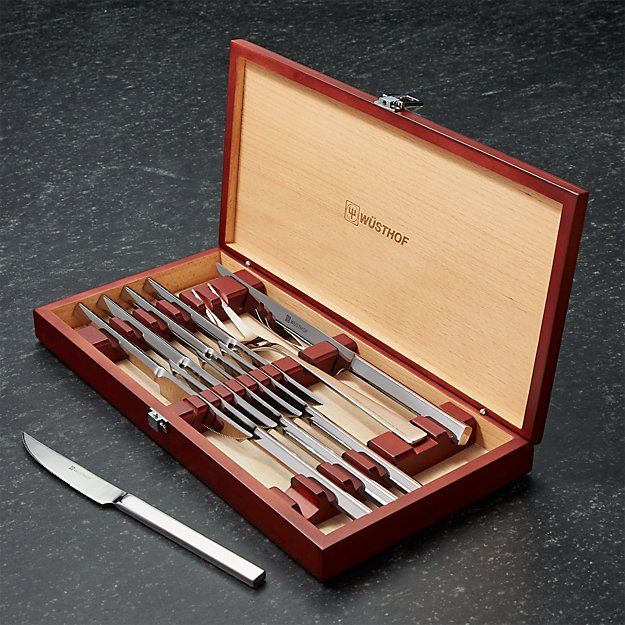 Wüsthof stainless piece steak and carving knives set