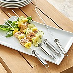 Stainless Steel Sliding Skewers, Set of 4