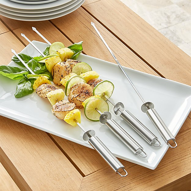 Stainless Steel Sliding Skewers Set of Four