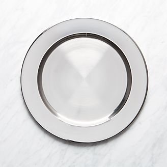 Stainless Steel Charger Plate & Charger Plates and Buffet Plates | Crate and Barrel