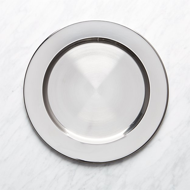 Silver Charger Plate + Reviews | Crate and Barrel