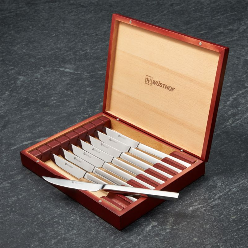 W 252 Sthof Steak Knife Set Reviews Crate And Barrel