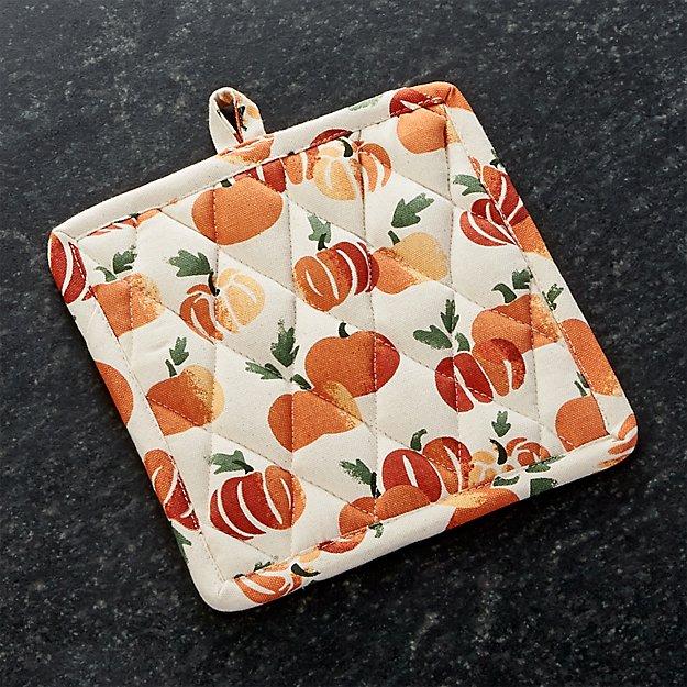 Stamped Pumpkin Pot Holder