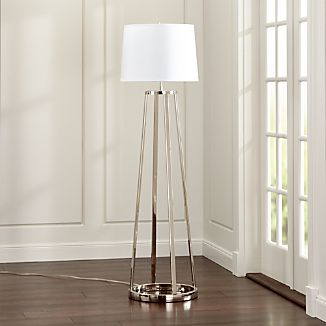 Stanza Nickel Floor Lamp