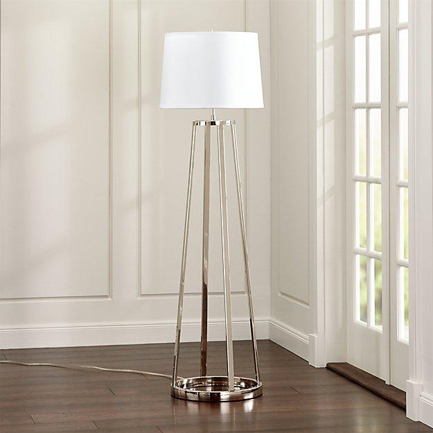 Stanza Nickel Floor Lamp Reviews Crate And Barrel