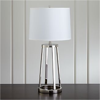 Stanza Nickel Table Lamp
