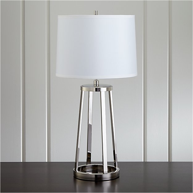 Stanza Nickel Table Lamp Reviews Crate And Barrel