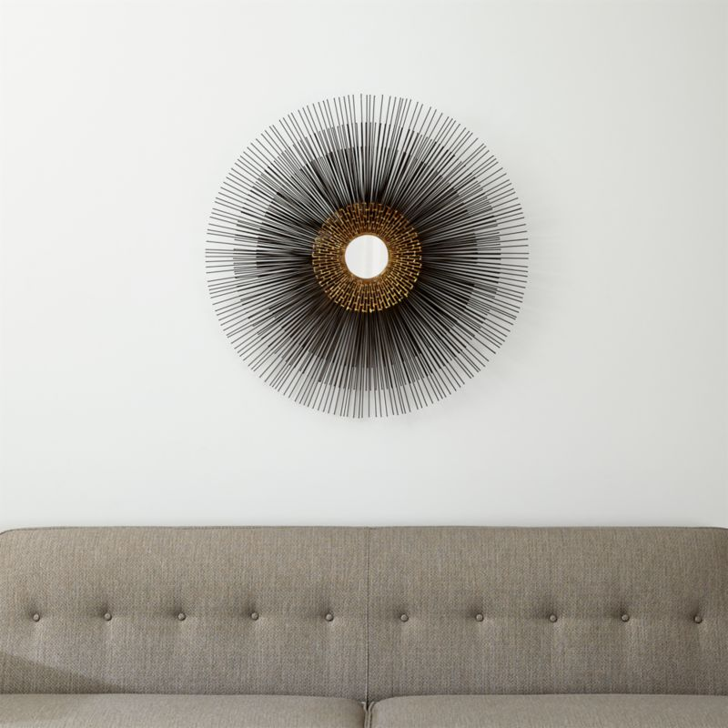 Starburst Round Wall Mirror Reviews Crate And Barrel