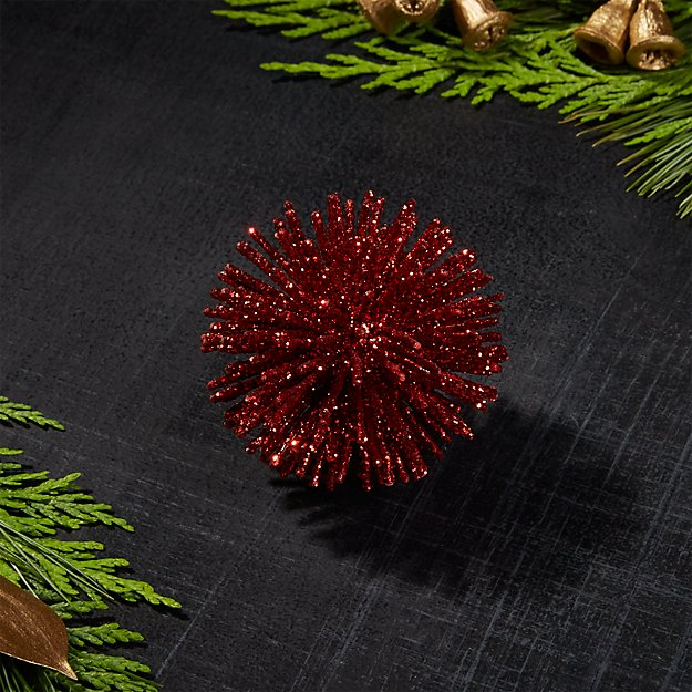 "Red 2"" Starburst Ornament"