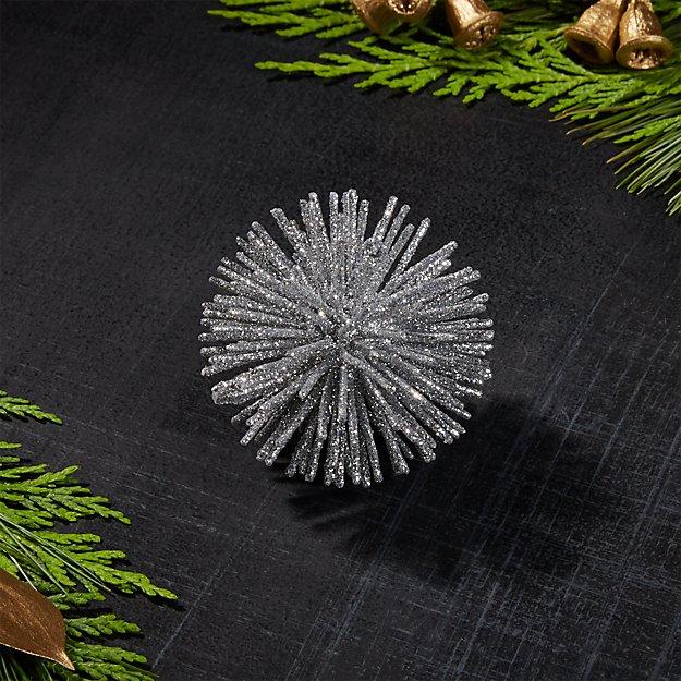 "Silver 2"" Starburst Ornament"