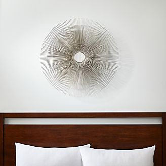 Circle Wall Art wall art: wood, metal and fabric designs | crate and barrel