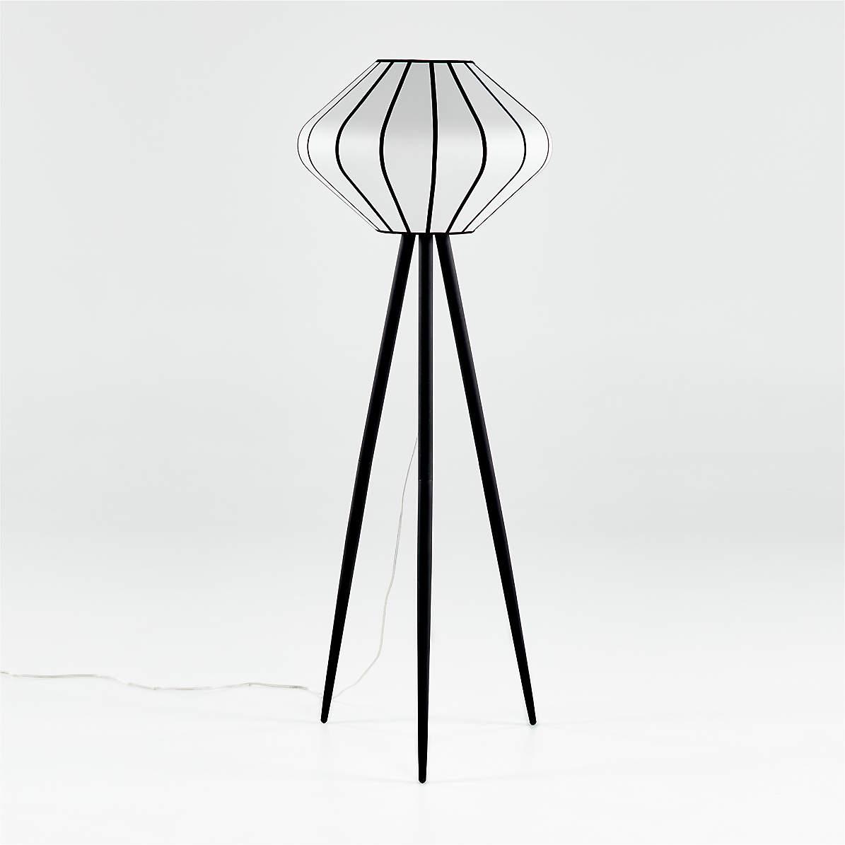 Starling Paper Lantern Floor Lamp Reviews Crate And Barrel