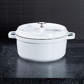 Staub ® White 4-Qt. Round Cocotte