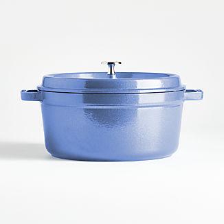 Staub ® 5.5-Qt. Metallic Blue Round Cocotte