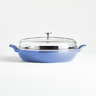 Staub ® 3.5-Qt Metallic Blue Braiser with Glass Lid