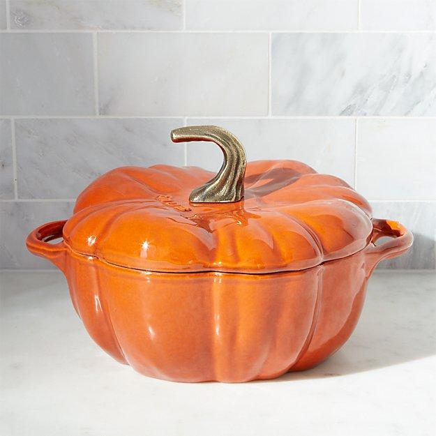 Staub 174 3 5 Qt Enamel Cast Iron Pumpkin Cocotte Crate