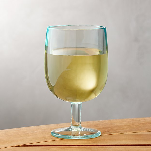 Stacking Aqua Acrylic Wine Glass