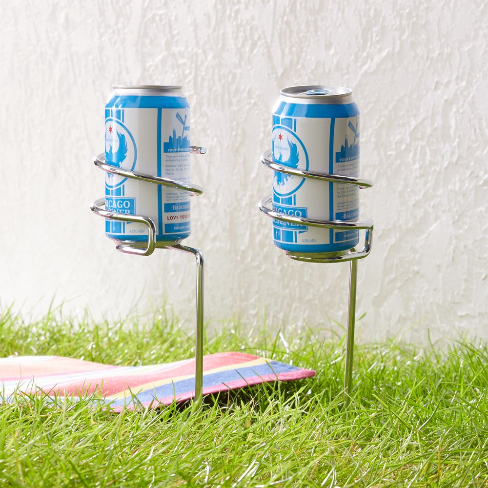 Set of 2 Steady Stick Beer Can Holders - Crate and Barrel