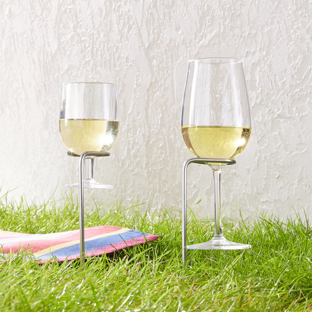Steady Stick Wine Glass Holders Set of Two - Crate and Barrel