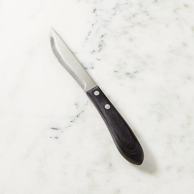 Steak Knife with Pakka Wood Handle
