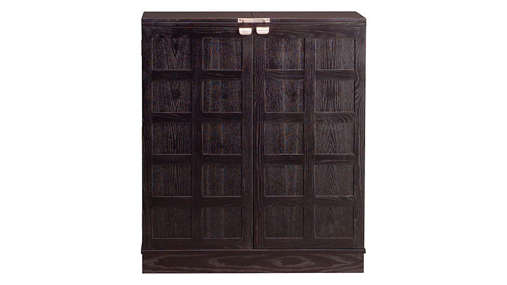 steamer bar cabinet reviews crate and barrel. Black Bedroom Furniture Sets. Home Design Ideas