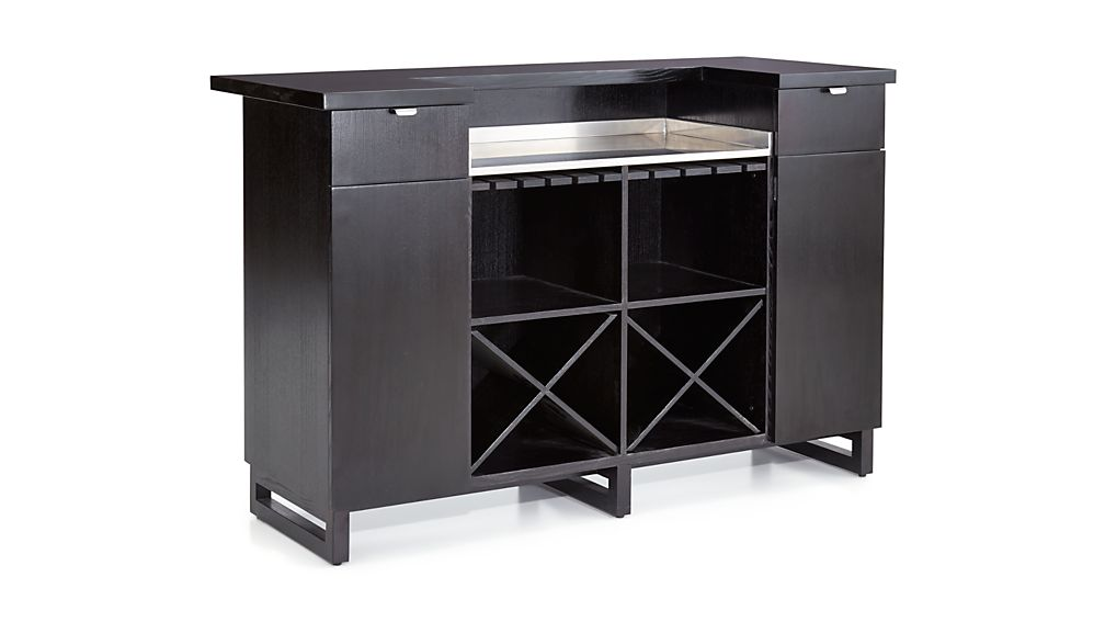 Steamer Standing Home Bar Cabinet with Stainless Steel Top
