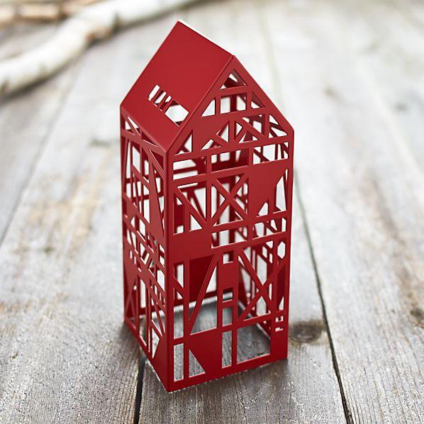 Red Steel Laser Cut House