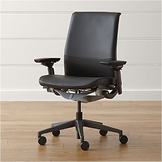 home office chairs swivel casters leather more crate and barrel