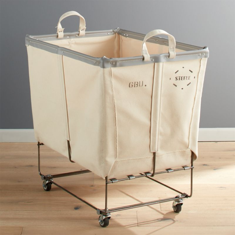 Steele Canvas Large Elevated Laundry Basket Crate And Barrel