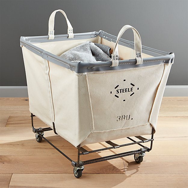 Steele Rolling Laundry Basket