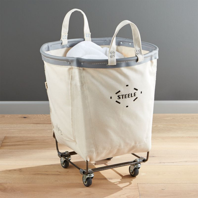 Steele Round Canvas Basket by Crate&Barrel