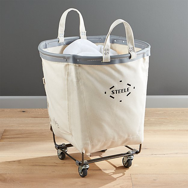 Steele Round Canvas Basket Crate And Barrel