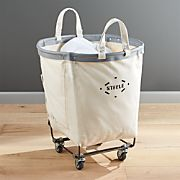 Steele Round Canvas Basket