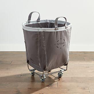 d2c5df31730 Steele ® Round Canvas Basket Briquette