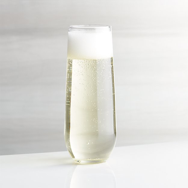 Stemless Flute Glass 9 Oz Crate And Barrel