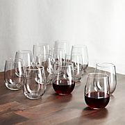 Stemless Wine Glasses 17 oz., Set of 12