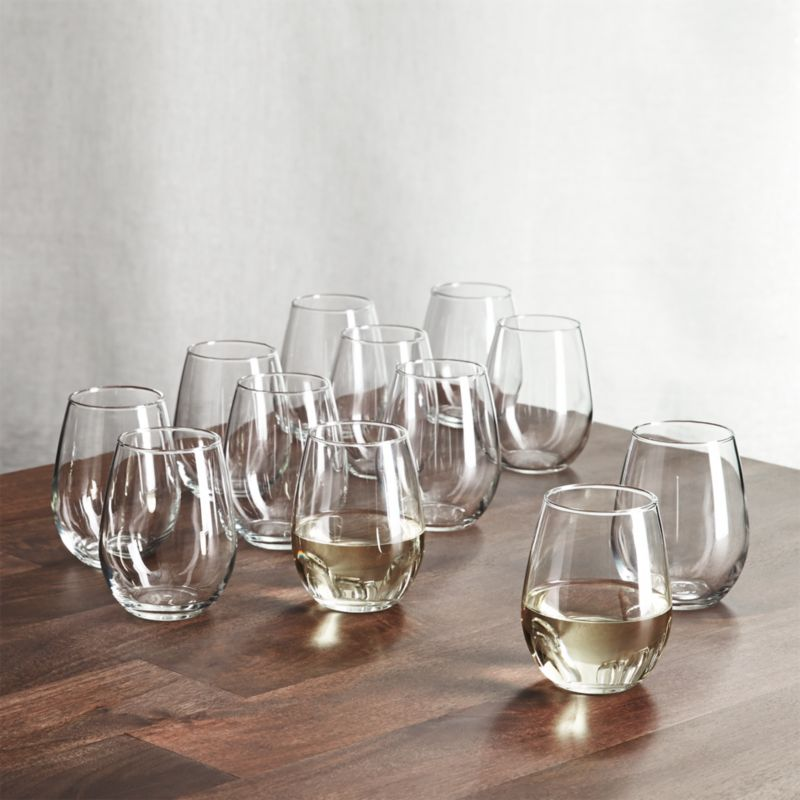 Stemless Wine Glasses 11.75 oz., Set of 12