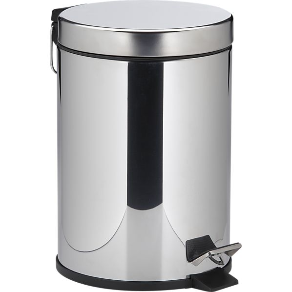 Stainless Steel Step-On 1.3-Gallon Trash Can